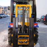 ecopard Kleintraktor Geräteträger mit Heckstapler / Geländestapler