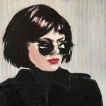 Lady in black 100x100