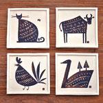 動物の陶板
