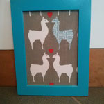 lamas im Bilderrahmen