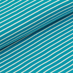 stoffonkel - streifen dunkeltürkis/weiß - bio-jersey