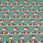 stoffonkel - little fox, grün - bio-jersey