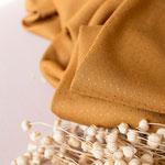 atelier brunette - dobby, ochre - ecovero-viskose