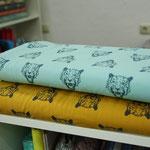 nosh - tiger, aqua und senf - bio-jersey