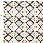 kimsa design - navajo golden brown, mint - bio-jersey