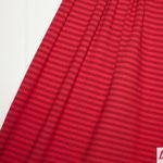 lillestoff - streifen rot/dunkelrot - bio-jersey