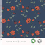 elvelyckan - rose hip/dark blue - bio-jersey