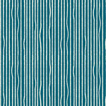 birch - yarn stripes, teal - bio-popeline