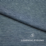 lebenskleidung - striped navy/white - bio-jersey