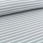stoffonkel - streifen grau/weiß - bio-jersey