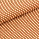 stoffonkel - streifen karamell - bio-jersey