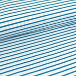 stoffonkel - streifen, weiß blau - bio-jersey