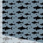 elvelyckan - shark, blue - bio-jersey