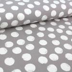 stoffonkel - mellow dots, steingrau - bio-wintersweat