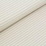 stoffonkel - streifen sand - bio-jersey