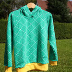 Raglan-Sweatshirt - vorne - Schnitt Minikrea