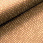 stoffonkel - dotted lines, taupe - bio-jersey