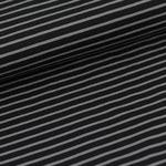 stoffonkel - streifen schwarz/grau - bio-jersey