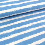 stoffonkel - mellow stripes, lichtblau - bio-wintersweat