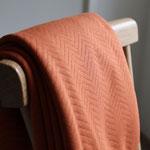 mtm - rust - organic chevron quilt