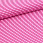 stoffonkel - streifen pink/pink - bio-jersey