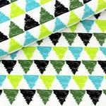 stoffonkel - drago triangles, blau - bio-jersey