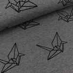 albstoffe - origami, grau - bio-jersey