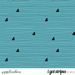 skand. design - sharks, blaugrün - bio-jersey