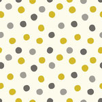 birch - dots, golden - bio-baumwolle