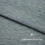 lebenskleidung - striped white/navy - bio-jersey