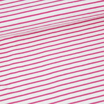 stoffonkel - streifen, weiß himbeer - bio-jersey