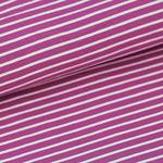 stoffonkel - streifen malve/vanille - bio-jersey