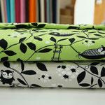 paapii - siiri sieasta, grau/apfelgrün - bio-jersey