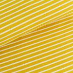 stoffonkel - streifen senfgelb/weiß - bio-jersey