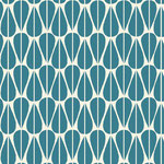 monaluna - little leaves teal - bio-baumwolle + canvas