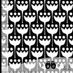paapii - tulips, schwarz - bio-jersey