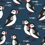 bloome - puffin, parisian blue - bio-sommersweat