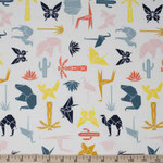 birchfabrics - geo party, multi - bio-baumwolle