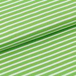 stoffonkel - streifen kiwi/weiß - bio-jersey