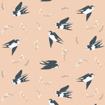 birch - happy swallow - bio-baumwolle
