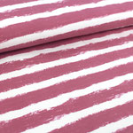 stoffonkel - mellow stripes, vintage rose - bio-wintersweat
