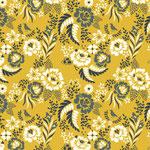 birch - merry floral, marigold - bio-baumwolle