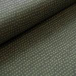 stoffonkel - dotted lines, khaki - bio-jersey