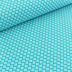 stoffonkel - pinwheels, blue curacao - bio-jersey