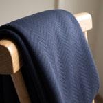 mtm - dark navy - organic chevron quilt