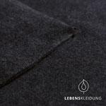 lebenskleidung - schwarz, meliert - bio-fleece