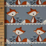 stoffonkel - little fox, grau - bio-jersey
