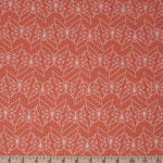 birchfabrics - geo butterfly, persimmon - bio-baumwolle