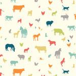 birch - farm friends, mulit - bio-baumwolle