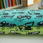 paapii - maschines, türkis/apfelgrün - bio-jersey